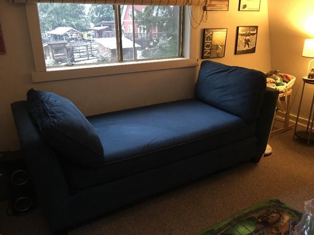 Blue Microfiber Day Bed/Loveseat