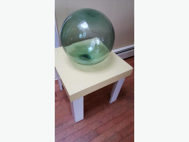 LARGE GREEN GLASS FISHING FLOAT