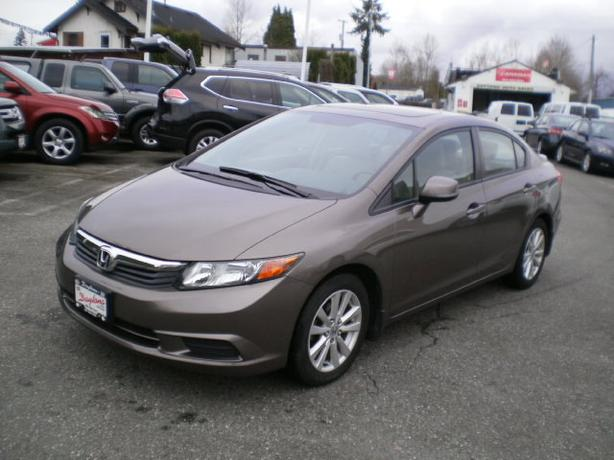 2012 Honda Civic EX, 2 year power train warranty,
