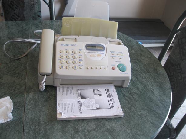 Sharp fax machine used rarly