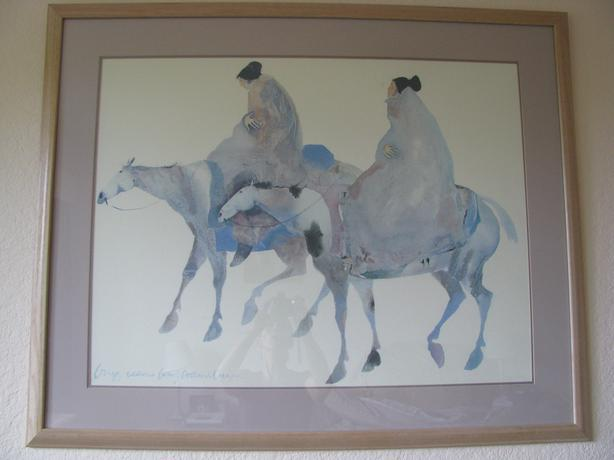 "LARGE CAROL GRIGG ""THE GUARDIANS"" LITHO PRINT"