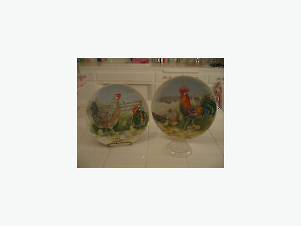 Rooster farmyard plates-wall decor ,art,