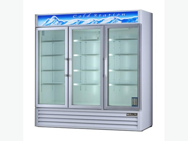 EFI C3-78GD 78″ Three Swing Door Glass Refrigerator Merchandiser