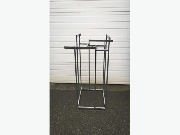 Polished Chrome Retail Clothing Racks