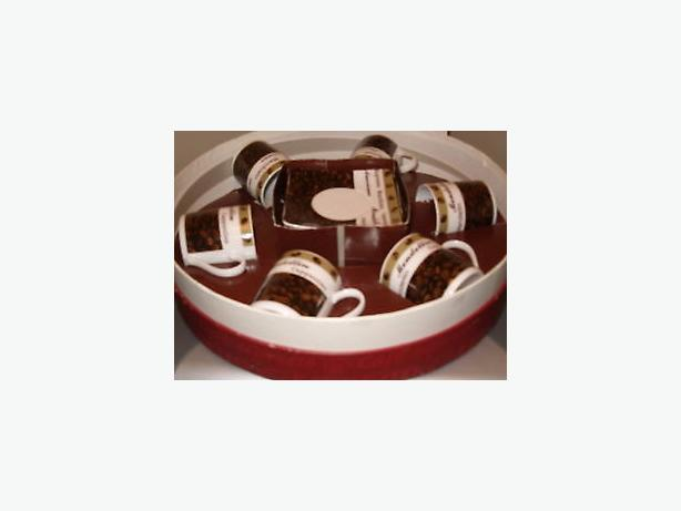 coffee espresso six cups sauces china gift set