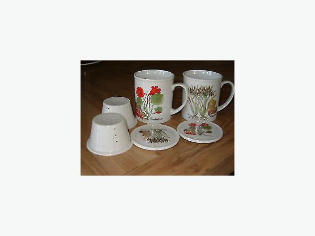Tea-Leaves-two  cups G. Lauren fine china set three pieces