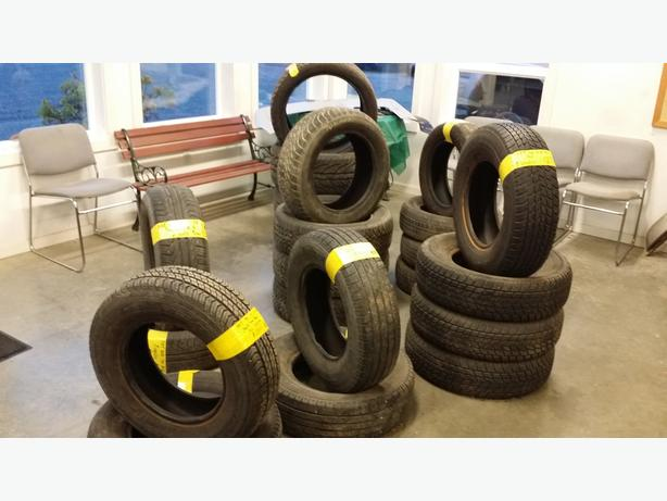 GOOD SELECTION OF USED TIRES AT MAXWELL'S USED AUTO AND TRUCK PARTS
