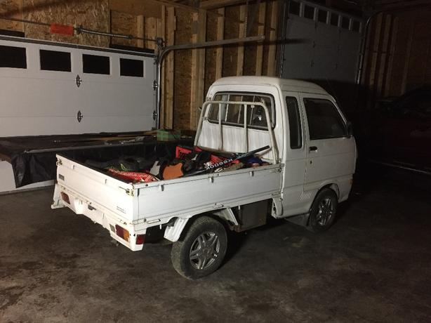 papered hijet mini truck project