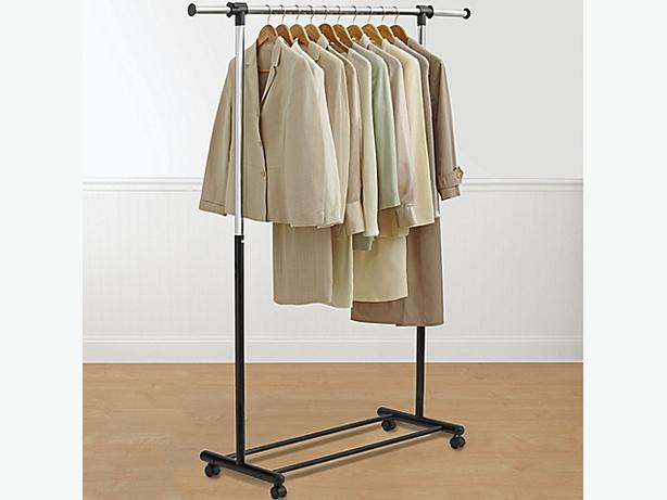 Rolling and Adjustable clothing Rack
