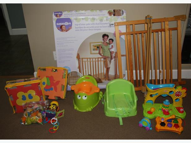 Baby Gate, booster seat, potty and toys