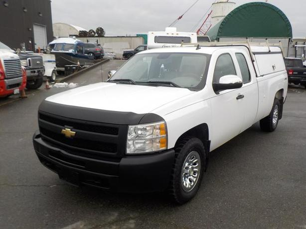 2011 Chevrolet Silverado 1500 Work Truck Extended Cab Long Box 4WD with Canopy