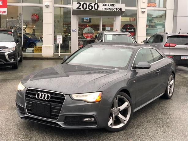 2013 Audi A5 S-line, NAVIGATION, BACKUP SENSORS, SUNROOF