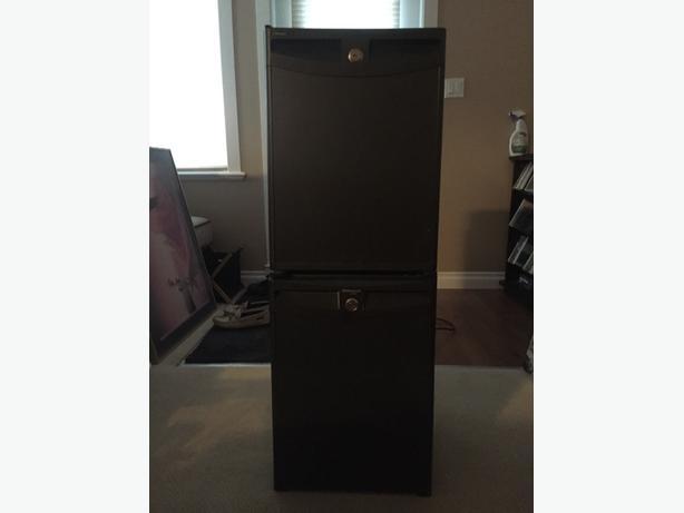 two lockable beer fridges