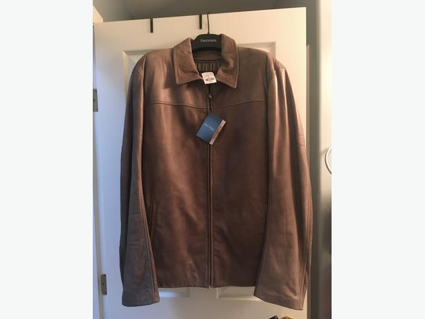 BRAND NEW MENS DANIER LEATHER JACKET