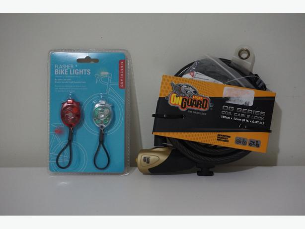 New Bike Accessories - Flasher Light & Lock