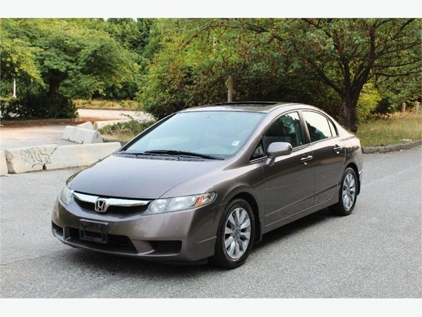 2010 Honda Civic EX-L, LEATHER, SUNROOF, 5 SPEED MANUAL