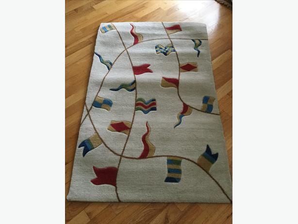 "NEW! SAILING FLAGS RUG, 2'6"" x 4'"
