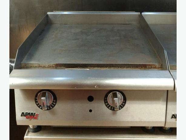 24 and 48 inch APW Wyott Gas Griddles