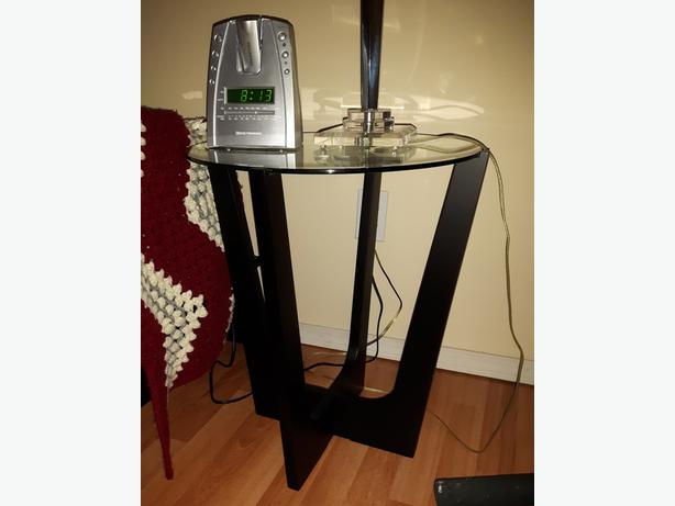 MOVING SALE - Glass End Table