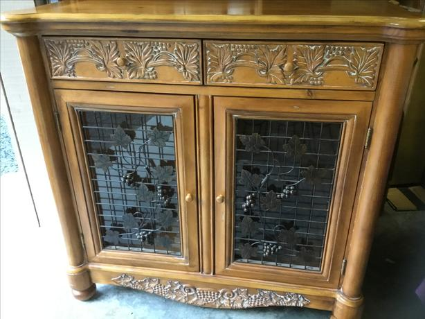 pickled pine. wine cabinet