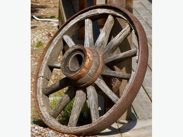 Rare Vintage Wooden Wagon Wheels