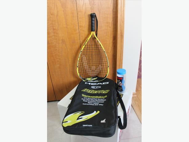 Brand new racquetball and balls