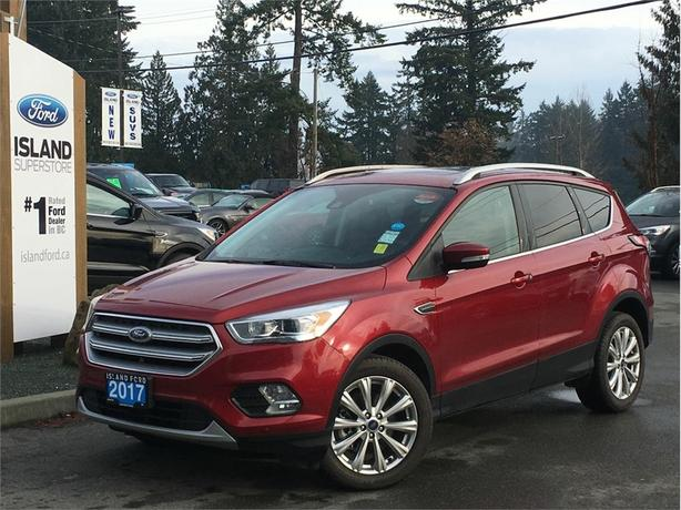2017 Ford Escape Titanium, Leather, Dual Moonroof, AWD