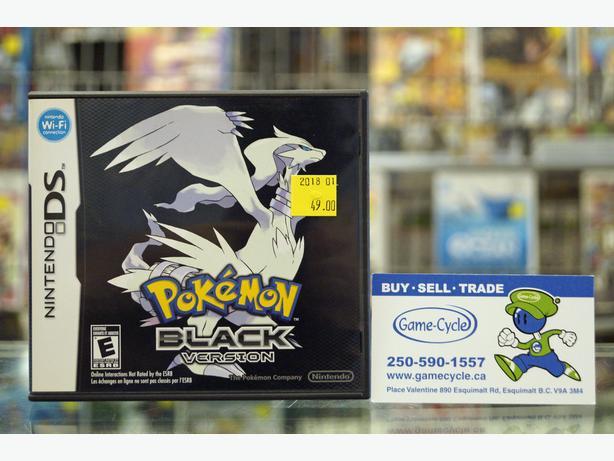 Pokemon Black For Nintendo DS @ Game Cycle Esquimalt & View