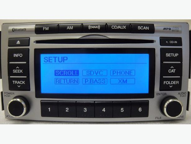 HYUNDAI SANTA FE RADIO OEM CD BLUETOOTH MP3 XM AUX