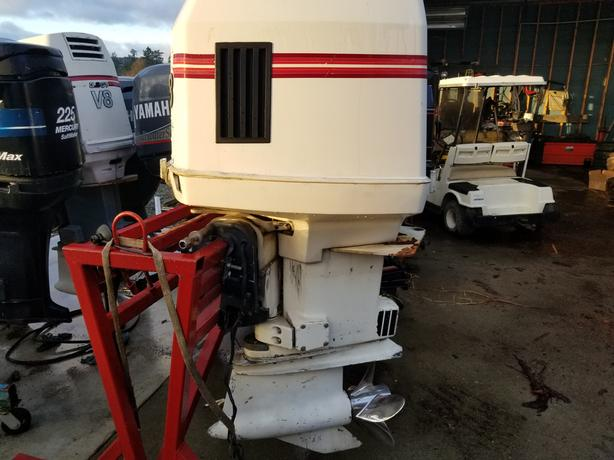 2 300HP JOHNSON OUTBOARDS W/RIGGING
