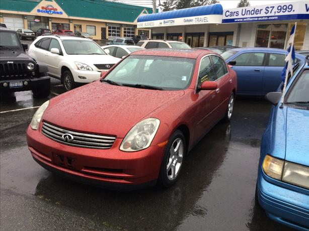 2003 infinity G35 BC Car No Claims Williams New Location