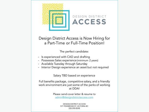 Design Associate - P/T or F/T Position! Victoria City, Victoria