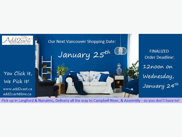 Add2cart.ca Comox Valley  We deliver IKEA    January 25th