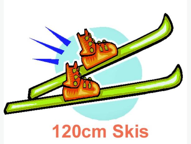 120cm skis c/w bindings