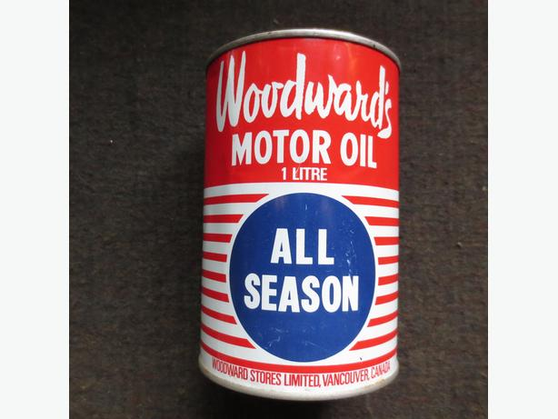 Woodwards oil can unopened 1 litre