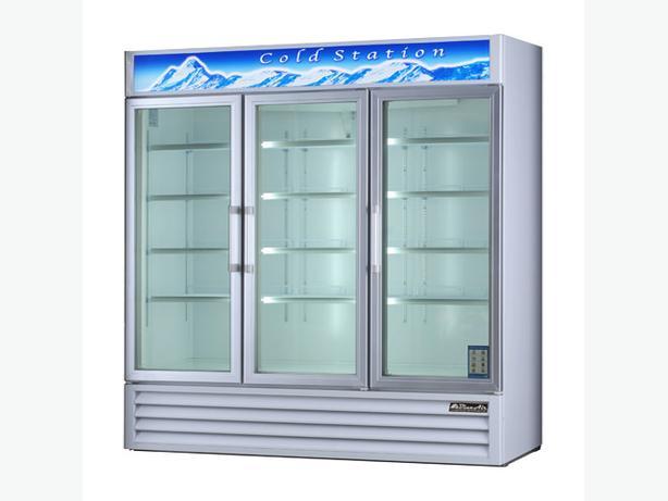 EFI C3-78GD 78″ Three Swing Door Glass Refrigerator Merchandiser