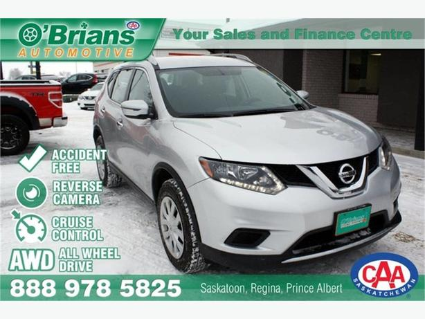 2016 Nissan Rogue S - Accident Free! w/AWD