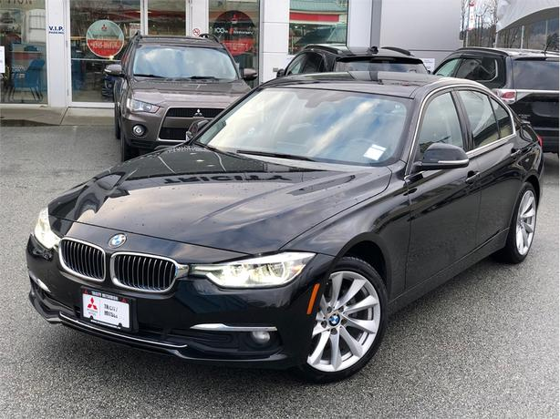 2017 BMW 320i 320I XDRIVE WITH NAVIGATION, LEATHER, SUNROOF