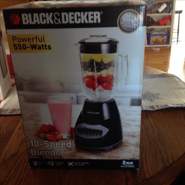 Brand new black decker blender east regina regina mobile for What brand of blender is used on the chew