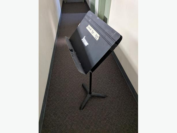  Log In needed $20 · Solid old school music stand with storage slot