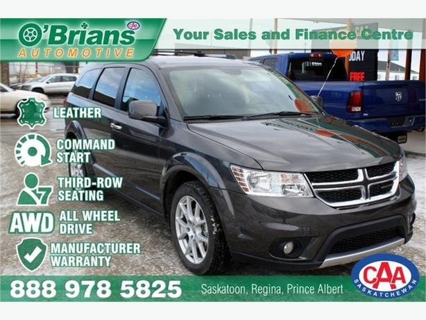 2017 Dodge Journey GT  w/Mfg Warranty, Leather, AWD