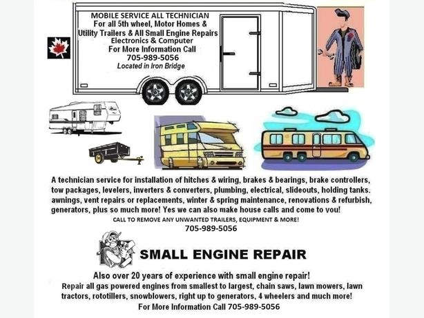 A Service Tech For All Motorhomes, Trailers & All Small Engines