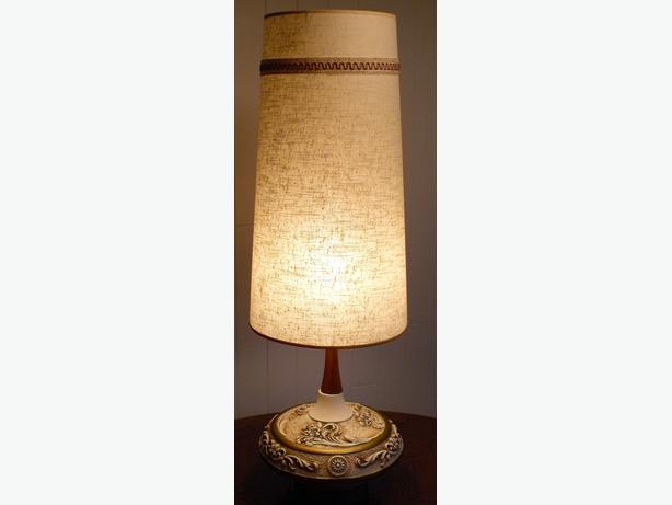 TALL Table Lamp...MCM w/Conical Shade