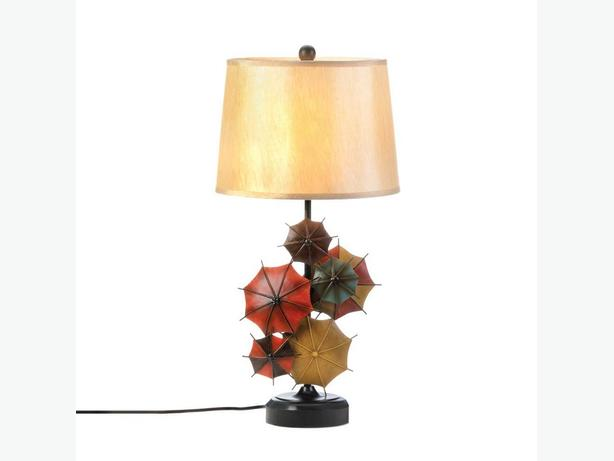 Unique Parasol Umbrella Table Lamp 29-Inches Tall Brand New