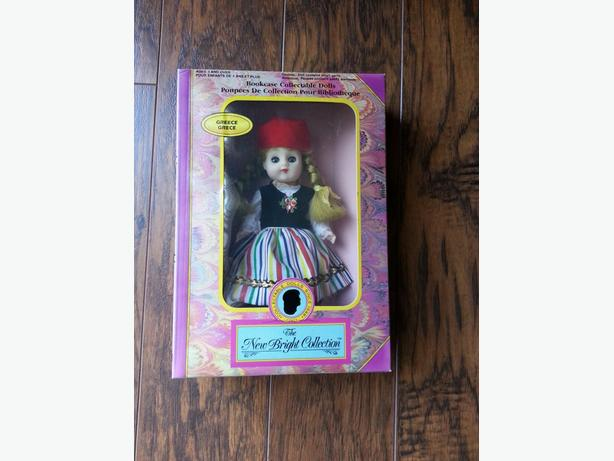 "1995 New Bright ""Bookcase collectable doll"""