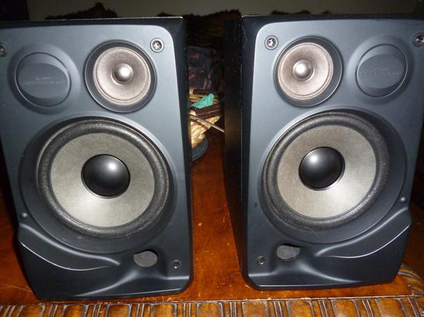 JVC SP MXS2 Bk Bookshelf Stereo Speakers