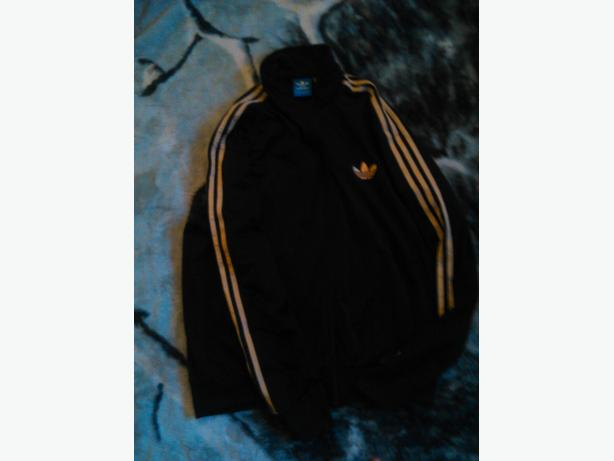 Black & Gold ZipUp Adidas Sweater