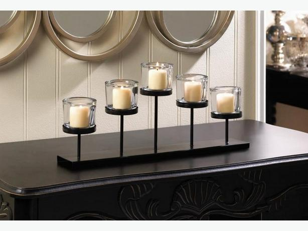 Pedestal Candleholder Candelabra Mantel Wedding Table Centerpiece 4 Lot New
