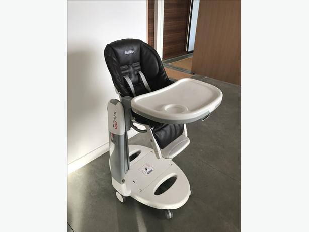 PEG PEREGO TATAMIA LEATHER HIGH CHAIR & SWING (CACAO)