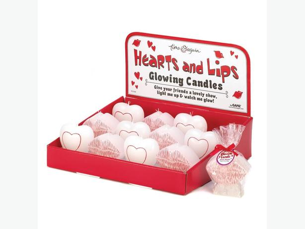 Hearts & Lips Romantic Glow Candles Bridal Shower Favors Resale 48PC 4 Pks of 12